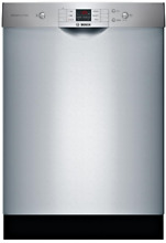 Bosch SHEM3AY55N 100 Series Front Touchpad Tall Tub Dishwasher Stainless Steel