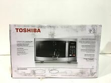 Toshiba 0 9 cu  ft  Stainless Steel Countertop Microwave Oven New