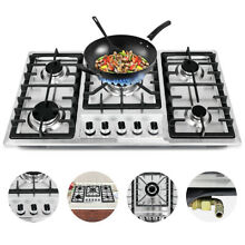33 8  5 Burners Built In Stove Top Gas Cooktop Kitchen Easy to Clean Gas Cooking