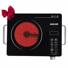 Suliko Electric Cooktop  1800W Portable Countertop Burner  Sensor Touch Electric