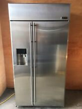 GE Monogram 42 Refrigerator Built In Stainless Steel ZISS420DHASS