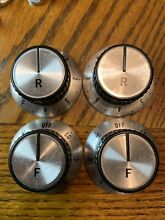 SET OF 4 REAR FRONT JENN AIR TAPPAN RANGE BURNER STOVE KNOBS H SHAFT