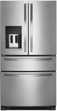 Whirlpool WRX735SDBM 36 Inch 4 Door French Door Refrigerator in Stainless Steel