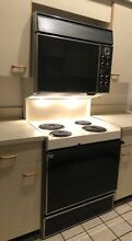Vintage 1960 1970s General Electric GE Dual Oven and Stove