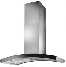 Best Sorpresa Collection WC35I90SB 36  Dune Wall Mount Chimney Hood in SxS