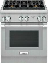 Thermador Pro Harmony Professional 30  4 Star Burners Dual Fuel Range PRD304WHU
