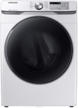 Samsung DVG45R6100W 27   Gas Dryer with Steam Sanitize  in White  7 5 Cu  Ft