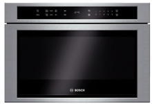 Bosch 800 Series HMD8451UC 24 Inch 1 2 cu  ft  Built in Microwave Drawer SxS