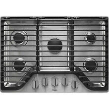 Whirlpool 30  5 burner stainless steel gas cooktop hinged grates WCG97US0DS new