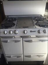 White O keefe and Merritt Gas Stove Vintage Kitchen Chrome Griddle 1940 1950 s