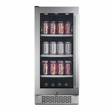 Avallon 15 Inch 86 Can Left Hinge Beverage Cooler  Stainless Steel  Damaged