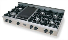 FiveStar TTN0487 SS 48  Gas Cooktop with Griddle stainless commercial Rangetop