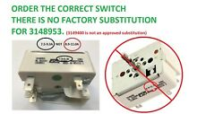 7 5   9 3A Whirlpool Range Burner Control Switch for WP3148953 AMANA  KENMORE