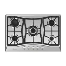 Empava 30 in Gas Cooktop Stainless Steel Built in 5 Sabaf Silver 30inch
