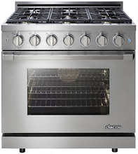 Dacor RNRP36GSNG Renaissance 36 Inch Freestanding Gas Range w 6 Sealed Burners