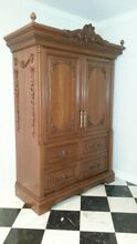 Armoire Cabinet to house two Sub Zero refrigerators  no refrigerators  just cab