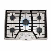 30 Inch 5 Sealed Burner Gas Cooktop Silver