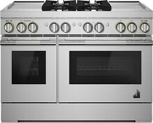 Jenn Air Rise 48 inch Stainless Dual Fuel Range with Dual Griddles  JDRP848HL