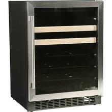 Azure A124Bev S 24  Beverage Center With Stainless Trim Glass Door