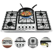 33 8  5 Burner Built In Stove Natural Gas Cooktops Cooker Gas Cooking Easy Clean