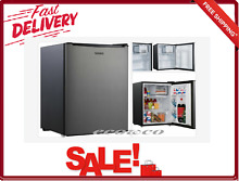 2 7 CU Ft Small Refrigerator Single Door Stainless Steel Fridge 2 Wire Shelves