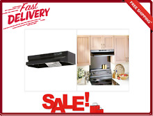 30 Inch Under Cabinet Vent Range Hood With Light Black 2 Speed  Rocker Type Fan