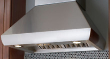 Wolf PWC482418 48 Inch Wall Mount Chimney Range Hood in Stainless Steel