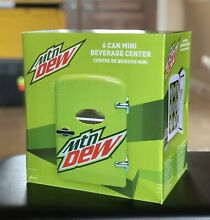 NEW Mountain MTN Dew 6 Can Mini Fridge Portable Car Or Home Refrigerator   AC DC