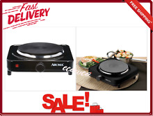 Aroma Single Burner Diecast Hot Plate With Temperature Control Black 5 8 Inch