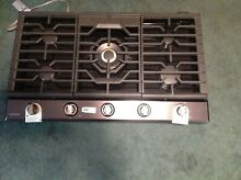 Samsung NA36K7752TG 36  Black Stainless 5   Burner Gas Cooktop w griddle