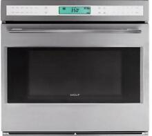 Wolf L Series 30  SS 4 5 Dual Convection Single Electric Wall Oven SO302FSTH