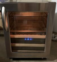 LOCAL PICKUP KitchenAid KBCS24RSBS 24  22 Bottle Stainless Steel Beverage Fridge