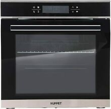 KUPPET 24  Electric Single Wall Oven with 10 Functions  Tempered Glass  Digital