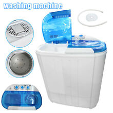 Mini Portable Washing Machine Twin Tub 8lbs Compact Washer Spin Spinner Double