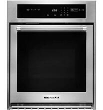 KitchenAid 24  3 1 Cu  Ft Convection Stainless Steel Single Wall Oven KOSC504ESS
