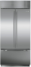 Sub Zero BI 36UFDID S TH 36 Inch Built in French Door Refrigerator Stainless