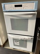 Frigidaire 27 in  Double Electric Wall Oven Self Cleaning in White  FFET2726TW