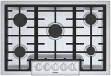 Bosch NGM8056UC 800 Series 30 Inch Gas Cooktop with 5 Sealed Burners Stainless