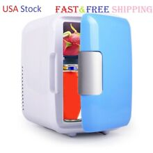 Mini Fridge Portable 12V 4 Liters Mini Refrigerator Cooler and Warmer Blue