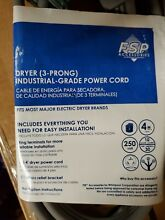 FSP Accessories 3 Prong Dryer Cord Industrial Grade Power Cord NEW