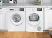 Bosch 300 Front Load White Washer   Dryer set  WAT28400UC   WTG86400UC