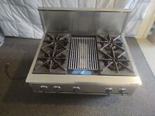 Thermador Professional Gas Cooktop 4 Burner With Grill  Free Shipping