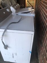 Electric washer and dryer set used