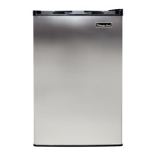 Magic Chef 3 Cubic Foot Deep Mini Upright Freezer  Stainless Steel  Open Box