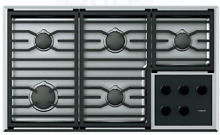 Wolf CG365TSLP 36 Inch Transitional Gas Cooktop w 5 Dual Stacked Sealed Burners