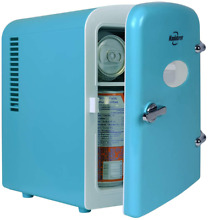 Personal  4 Liter 6 Can AC DC Portable Mini Fridge for Cars  Bedroom and Dorms