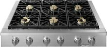 Professional Stainless Steel 48  Gas Cooktop with 6 Burners Decor ESG486SCH