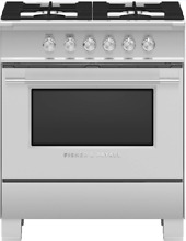 Fisher   Paykel OR30SCG4X1 Classic Series 30  Gas Range in Stainless Steel