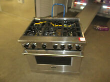 Untested VGR73626BSS 36  Freestanding Professional Gas Range 6 Burners Oven