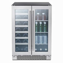 Zephyr 24 Inch French Door Dual Zone Wine and Beverage Cooler Fridge  For Parts